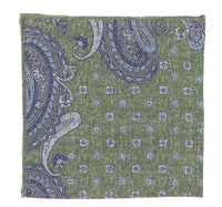 Green and Blue Pattern Pocket Square