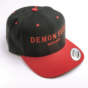 Demon Seed Whiskey Embroidered Black Snapback Cap