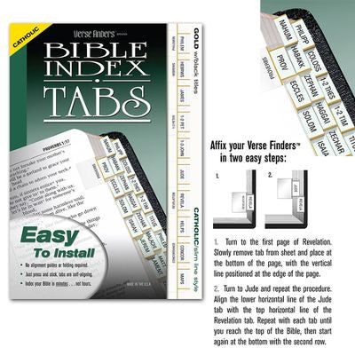 Bible Index Tabs Catholic