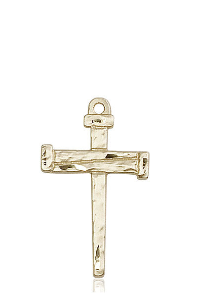 14kt Gold Nail Cross Medal
