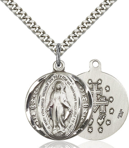Sterling Silver Miraculous Pendant