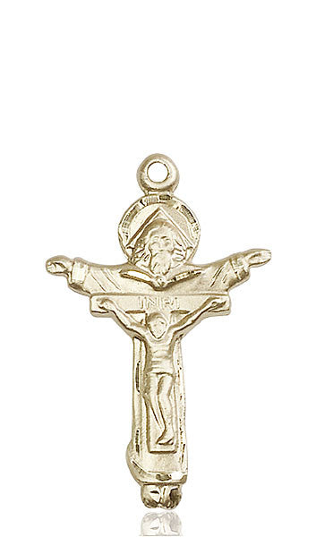 14kt Gold Trinity Crucifix Medal