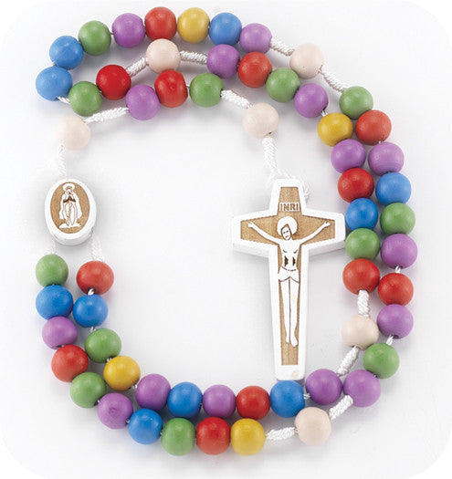 Multi-Color Round Bead Rosary