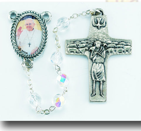 6 mm Crystal Pope Francis rosary