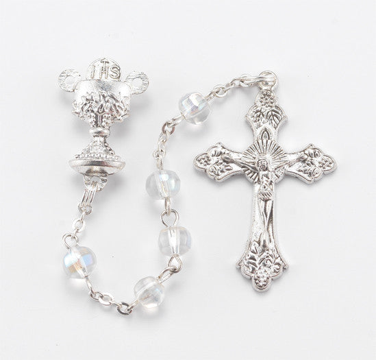 First Communion Rosary - Crystal