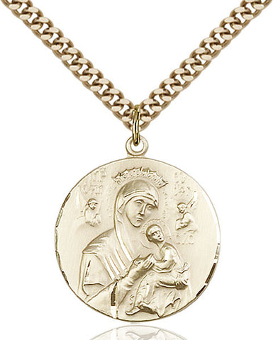 Gold Filled O/L of Perpetual Help Pendant