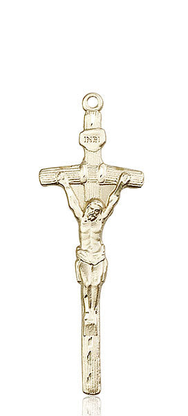 14kt Gold Papal Crucifix Medal