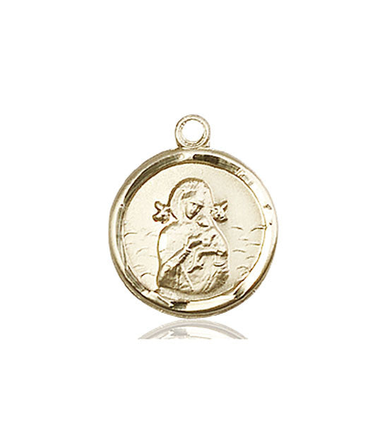 14kt Gold O/L of Perpetual Help Medal