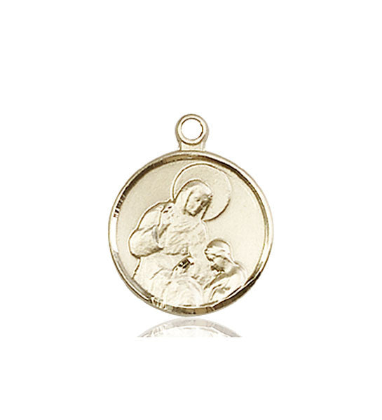 14kt Gold St. Raphael the Archangel Medal