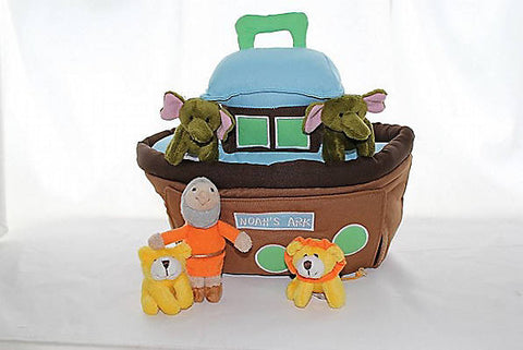 Plush Noah's Ark 6 PC. Play set