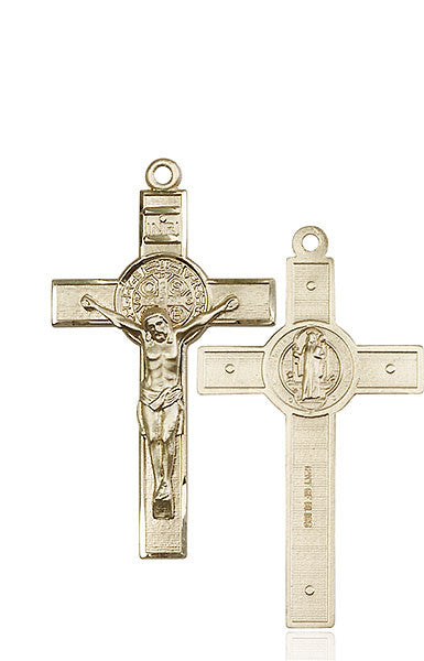 14kt Gold St. Benedict Crucifix Medal
