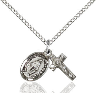 Miraculous Crucifix Sterling Silver Set