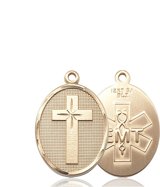 14kt Gold Cross / Emt Medal