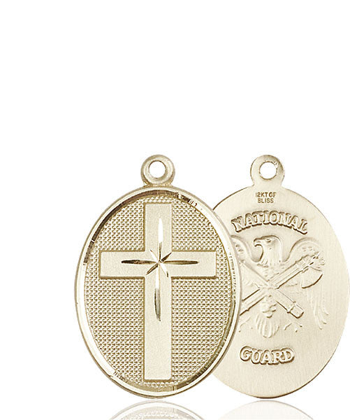 14kt Gold Cross / National Guard Medal