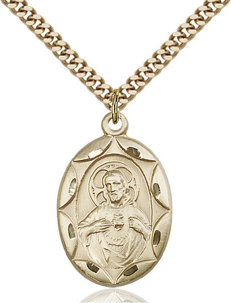 Gold Filled Scapular Pendant