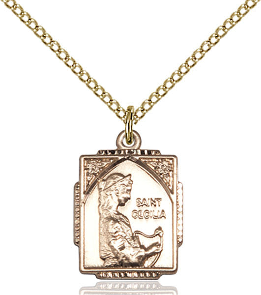 Gold Filled St. Cecilia Pendant