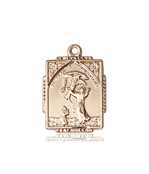 14kt Gold St. Francis of Assisi Medal