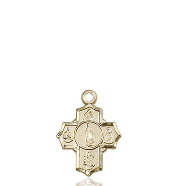14kt Gold 5-Way Motherhood Medal