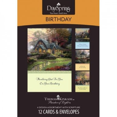 Boxed Card Birthday Thomas Kinkade
