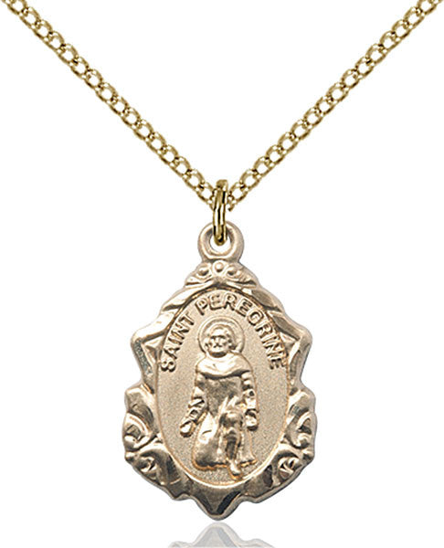 Gold Filled St. Peregrine Pendant