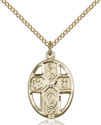Gold Filled 5-Way / Holy Spirit Pendant