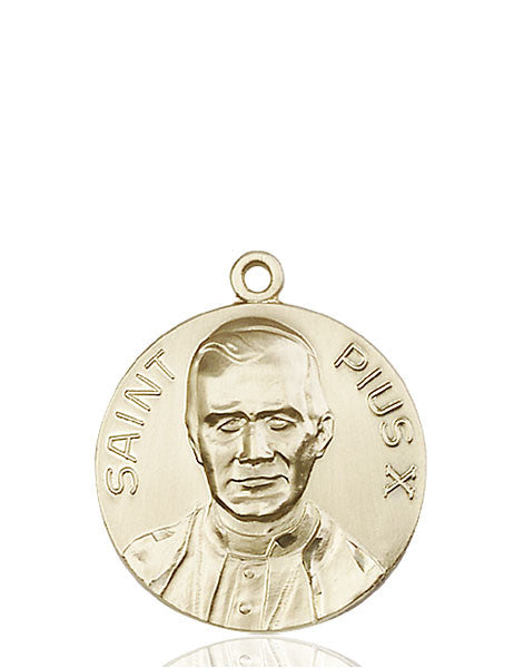 14kt Gold Pope Pius X Medal