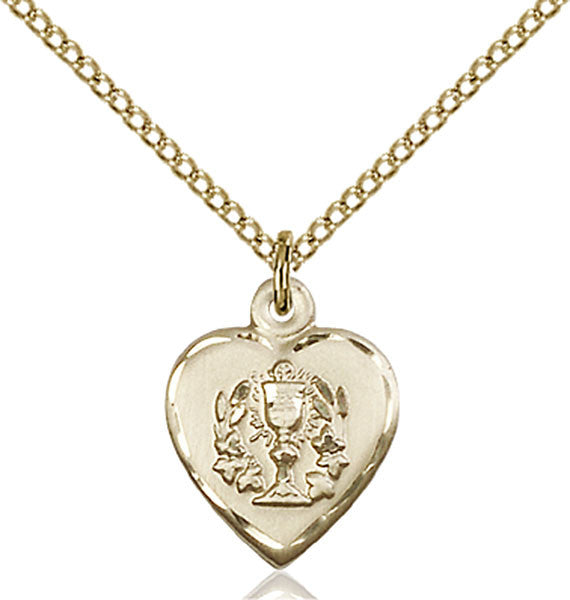 Gold Filled Heart / Communion Pendant