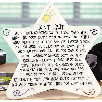 Don't Quit Marble Plaque