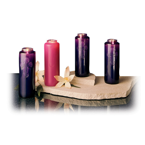 7 Day Glass Advent Set 3 Purple1 Pink