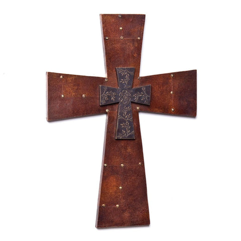 Copper Studded Cross