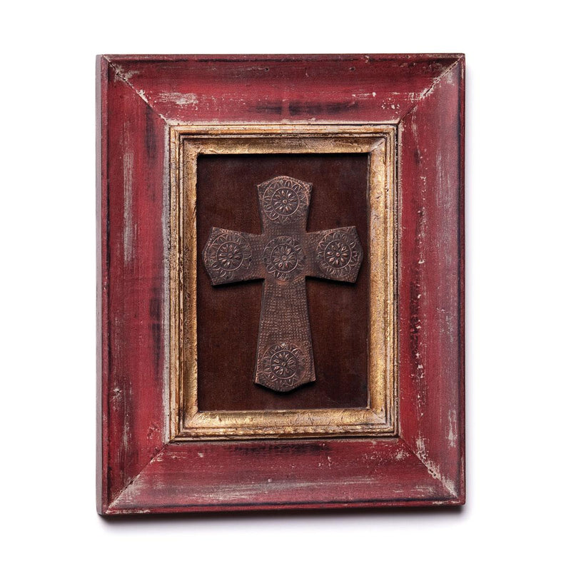 Red and Gold Framed Cross