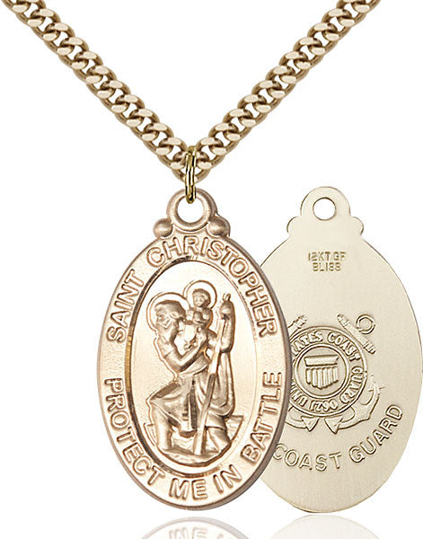 Gold Filled St. Christopher Pendant