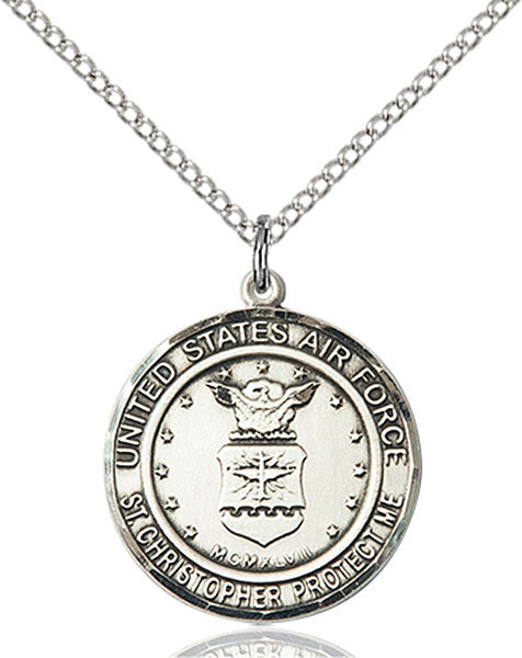 Sterling Silver AIR FORCE/ST. CHRISTOPHER Pendant
