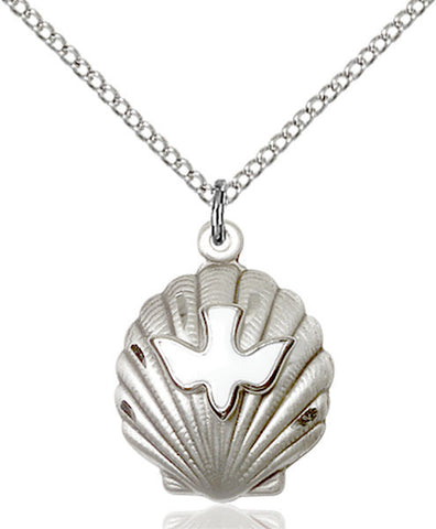 Sterling Silver Shell / Holy Spirit Pendant