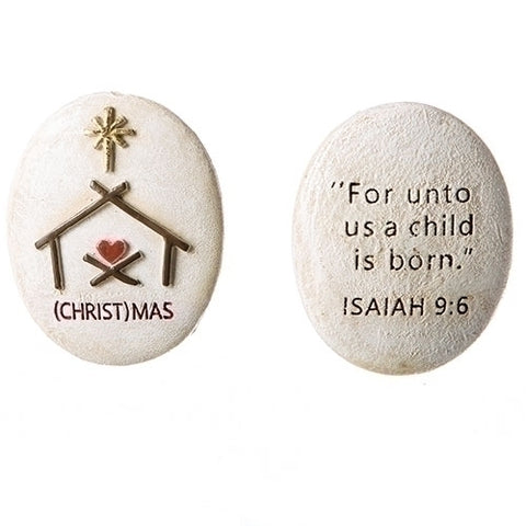 (Christ)mas Pocket Stone 1.75""