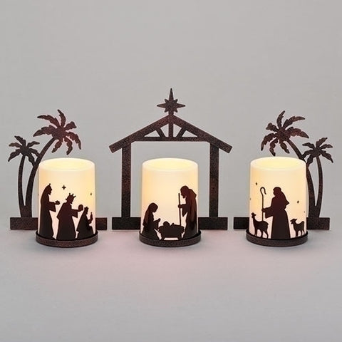 Holy Family LED Candle Set
