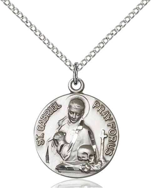 Sterling Silver St. Gabriel of the Blessid Virgin