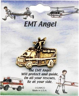EMT Angel Gold Pin