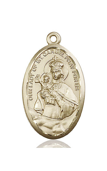 14kt Gold O/L of Mount Carmel Medal