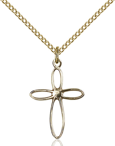 Gold Filled Loop Cross Pendant