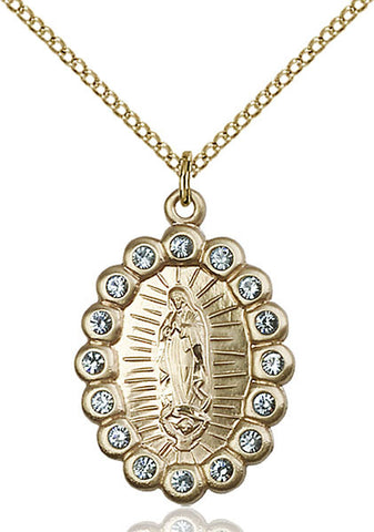 Gold Filled O/L of Guadalupe Pendant