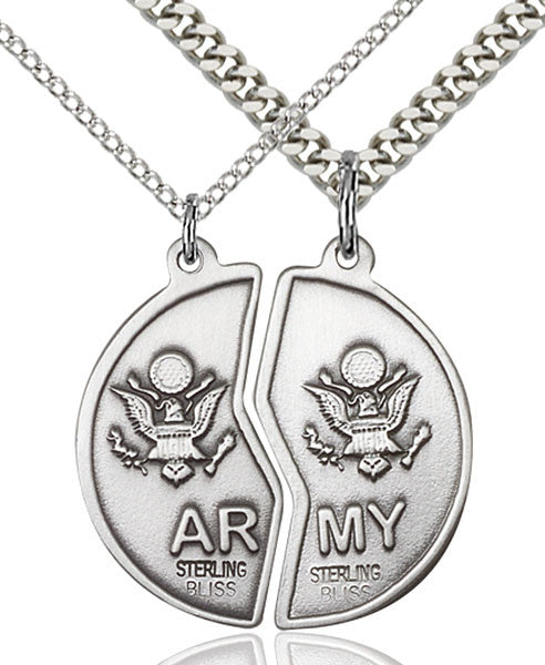 Sterling Silver Miz Pah Coin Set / Army Pendant