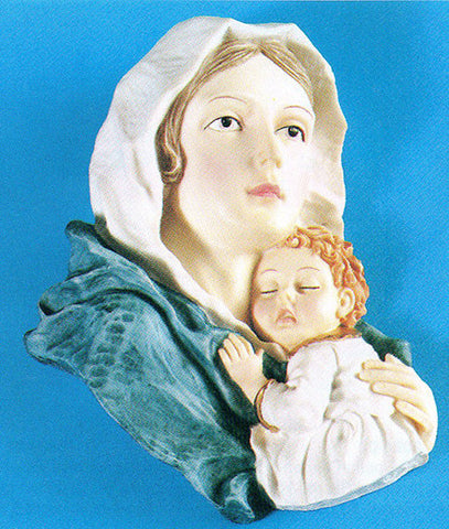 Madonna/child Resin Wall Plaque