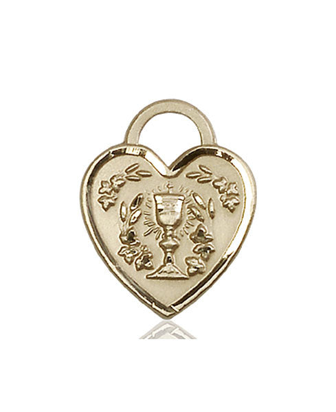 14kt Gold Communion Heart Medal