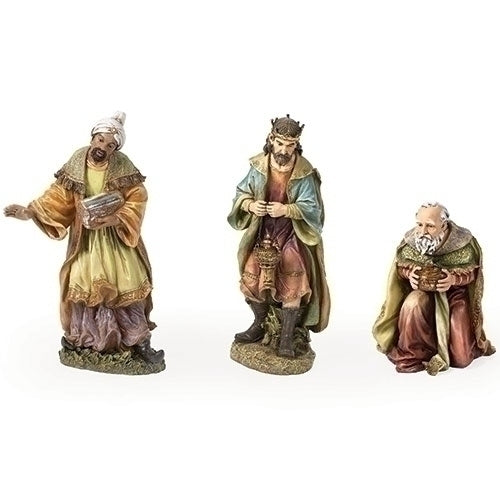 "Nativity, Three Kings FIgure, 3 Piece Set, Colored, Indoor/Outdoor [27"" Scale]"