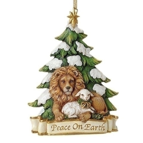"Lion and Lamb ""Peace on Earth"" Ornament"