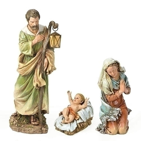 "3Pc St 6.25-27.5"" Holy Family Nativity [27"" Scale]"
