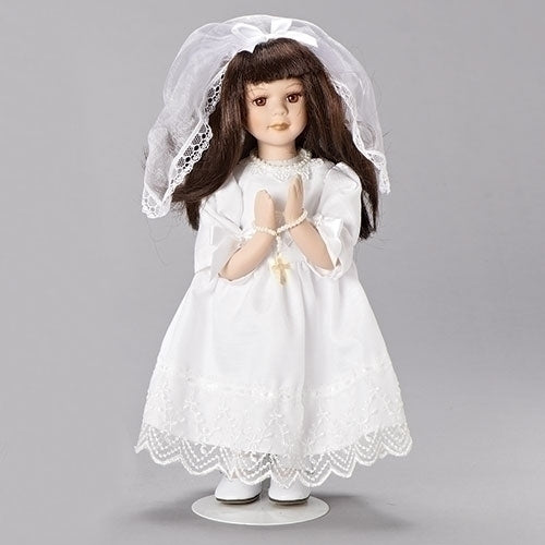 First Communion Figure/Doll Brunette, 12""