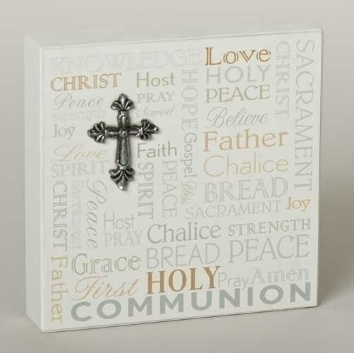 First Communion Desk Plaque