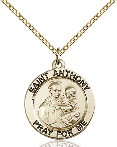 Gold Filled St. Anthony of Padua Pendant
